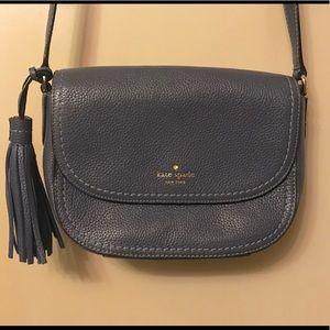 Kate spade navy blue leather cross body purse